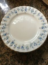 Set Of 8 Royal Albert Memory Lane Forget Me Not Bread & Butter Plates Dishes