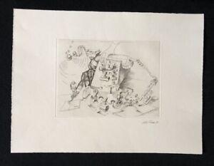 Peter Freese, stampati, acquaforte, 1981, a mano firmata e datata