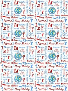 Image Is Loading 1st Birthday Personalised Gift Wrapping Paper Choose Colour