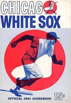 1961 (6/4) Baseball program New York Yankees @ Chicago White Sox,scored Maris HR