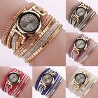 Fashion Women Watch Bracelet Crystal Leather Dress Analog Quartz Wrist Watches