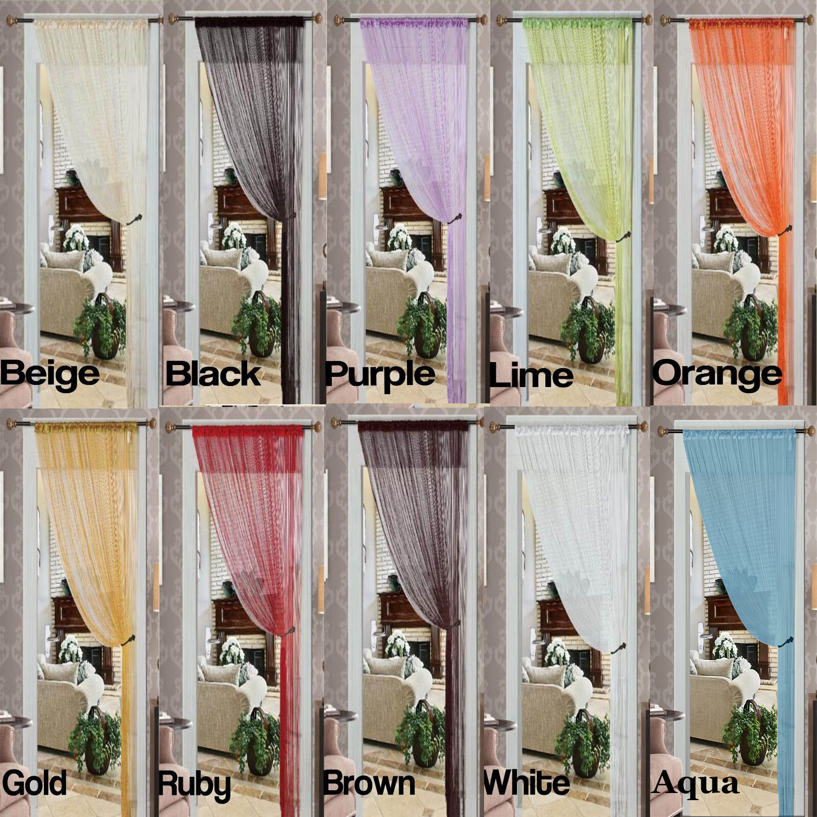 String Curtain Thread Curtain Fringe Panel Blind Room