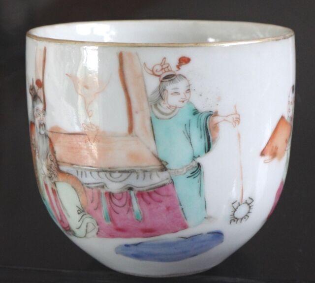 Ancienne tasse porcelaine chine Antique chinese cup porcelain mark painted XIX