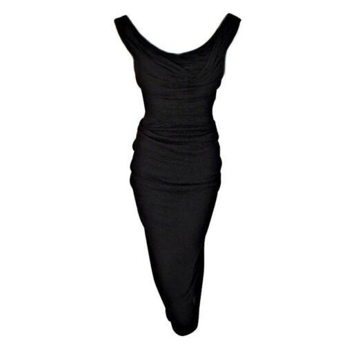 CEIL CHAPMAN 1940s Vintage Black Cocktail Dress