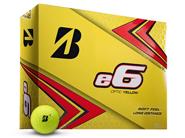 Bridgestone e6 Golf Balls - 1 Dozen Yellow -  Mens