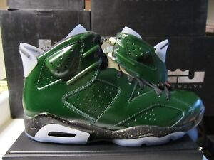sale retailer 5ce43 f0aee Details about Nike Air Jordan Retro 6 VI CHAMPAGNE Green Gold Red 12 384664  350 Rings cigar xi