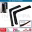Vento-Pioggia-Sole-Fumo-Protezione-Deflettori-L-Forma-Nero-2pc-Per-Ford-Transit miniatura 1