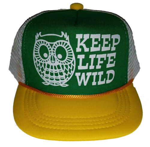Kid/'s Keep Life Wild Owl  Snapback Mesh Trucker Hat Cap Toddler Children GWY