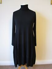 MarlaWynne Luxe Crepe Turtle Neck Balloon Dress 3XL New Tags Black