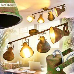 Retro Wohn Schlaf Zimmer Leuchten Decken Lampen grün//Holz Flur Dielen Strahler