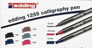 Edding-1255-Calligraphy-Pen-Italic-Pens-Fine-Medium-Broad-Tip-Singles