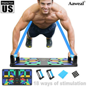 Complete-Push-Up-Rack-Board-18-9-In-1-Body-Building-Fitness-Exercise-Tools-Men