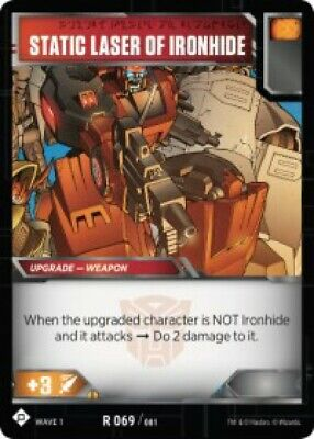 Set of 3 Transformers Trading Card Game Cards Static Laser of Ironhide R 069