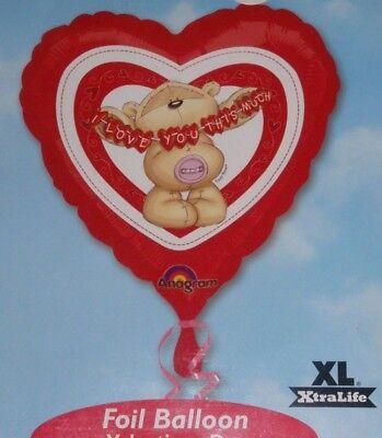 """18/"""" Globo De Aluminio San Valentín Cumpleaños Aniversario Fizzy Moon que te amo este mucho"""