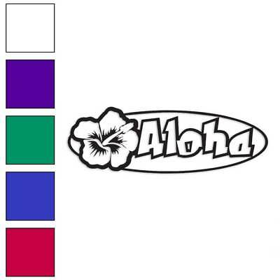 Aloha Hawaii Hibiscus Decal Sticker Choose Color Size #782