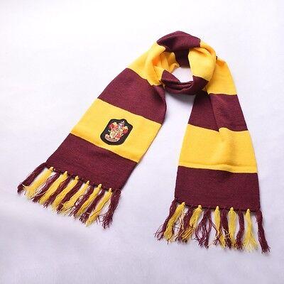 Adult Harry Potter Scarf  Gryffindor Slytherin Ravenclaw Hufflepuff Crest Scarf