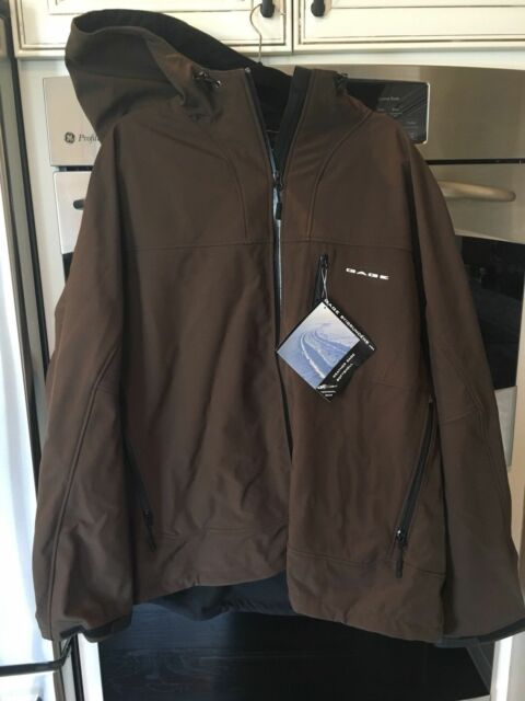 Grundens Mens 3XL Weather Gage Hooded Softshell Jacket Fishing Hunting Navy