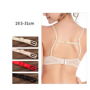 1d90e67c59 New Women Low Back Backless Bra Strap Converter Adapter Adjustable ...