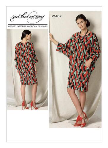 Vogue V1482 American Designer Rachel Comey PATTERN Misses Dress Size SML-LRG