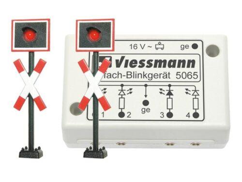 Spur H0 Viessmann 5060 2 Andreaskreuze mit Blinkelektronik