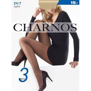 fec4d1ee5ee Image is loading Charnos-24-7-3-Pair-Pack-15-Denier-