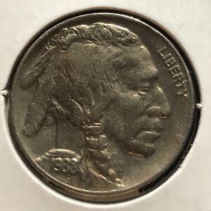 USA-1938-D-Buffalo-Nickel-5-Cent-Denver-Gute-Erhaltung-Selten-11102