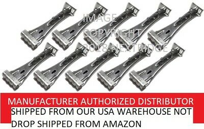 Rainware Supply Gutter and Downspout Parts QS6HDC-0010 Quick Screw 6 inch Aluminum Hidden Rain Gutter Bracket Hook clip style Hangers with pre inserted 3 long /¼ hex head self drilling screw 10 Per Package