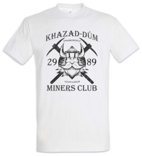 Khazad-Dum continus Club T-shirt Lord of Dwarfs Gimli la Moria the Rings Miner Fun