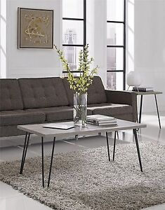 Details About Retro Coffee Table Metal Frame Wood Top Living Room Small Rooms Lightweight