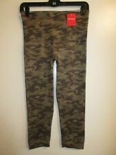 NWT Spanx Look at Me Now Seamless Leggings Green Camo XL