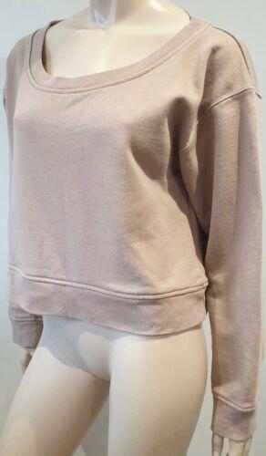 maniche lunghe Top T Felpa in cotone a a Alexander cotone maniche Wang corto L corte in beige xnxqwIATZ4