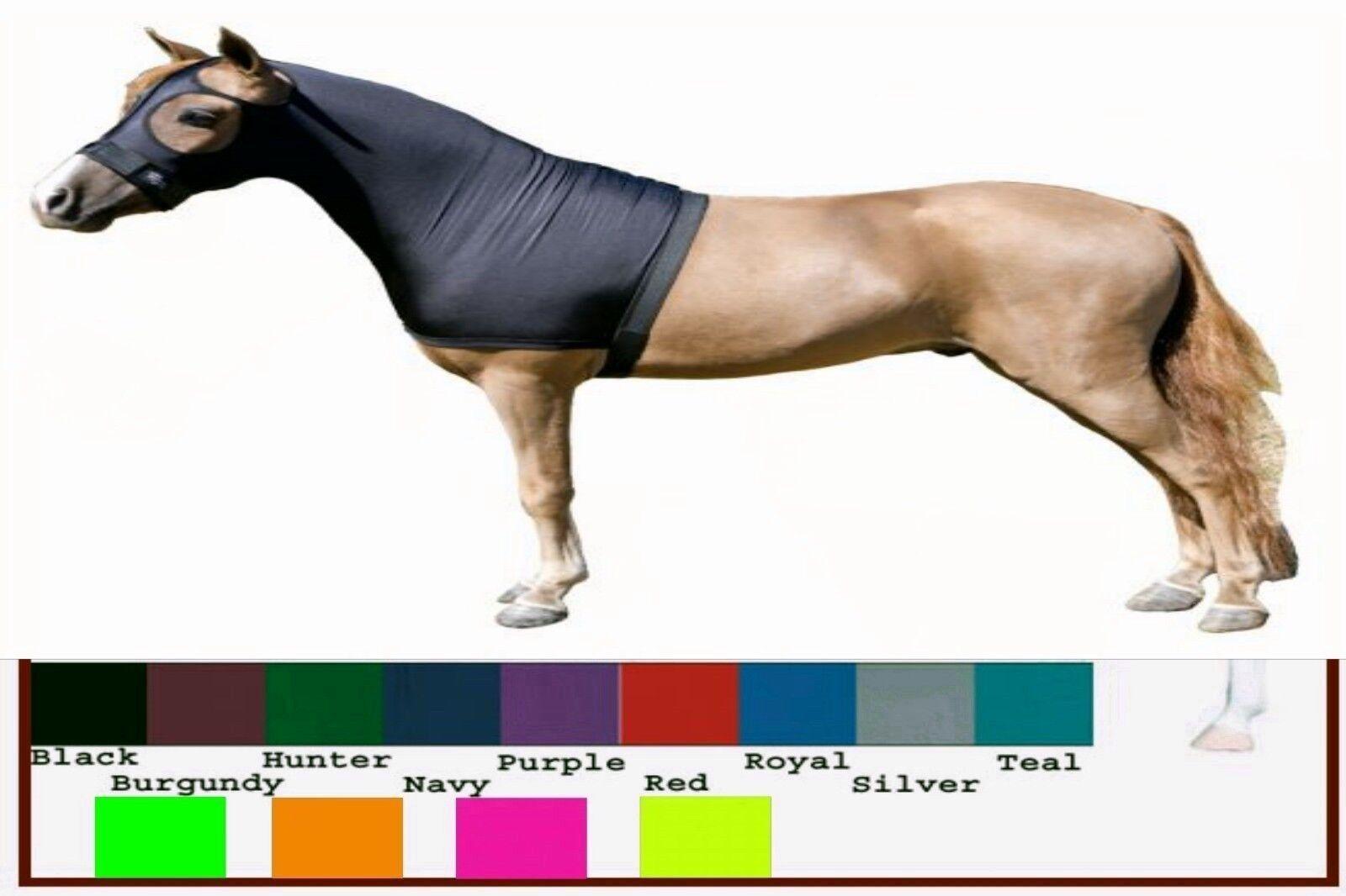 Miniature Horse MINI Sleazy Sleepwear Lycra Spandex Show Hood Mane Stay Solids