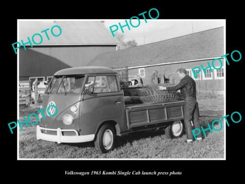 OLD 8x6 HISTORIC PHOTO OF 1963 VOLKSWAGEN KOMBI SINGLECAB LAUNCH PRESS PHOTO 1