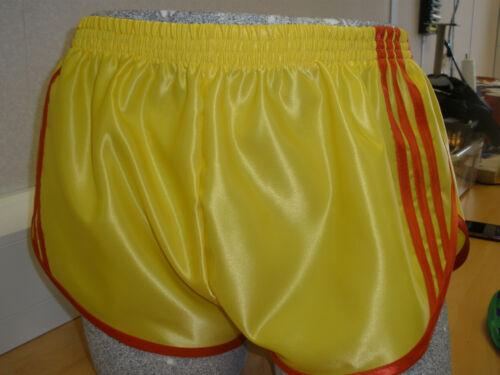 Yellow Retro Nylon Satin Sprinter Shorts S to 4XL Red