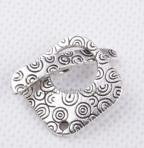 10sets-Retro-silver-Square-Tibetan-silver-Decorative-Pattern-Clasp-Findings