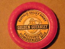 UNUSED VINTAGE MILK BOTTLE CAP BUFFALO VALLEY DAIRY MILTON PA. GOLDEN GUERNSEY
