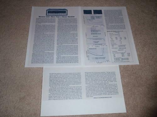 Full Test 1975 Marantz 2325 Receiver Review 3 pgs