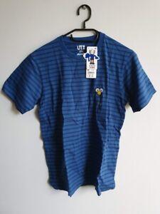 KAWS x Uniqlo UT BFF Striped Crew Neck Short Sleeve T-Shirt Blue - XS