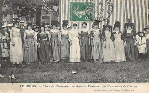 CPA 71 TOURNUS FETES DU CENTENAIRE ANCIENS COSTUMES DES COMMUNES DU CANTON