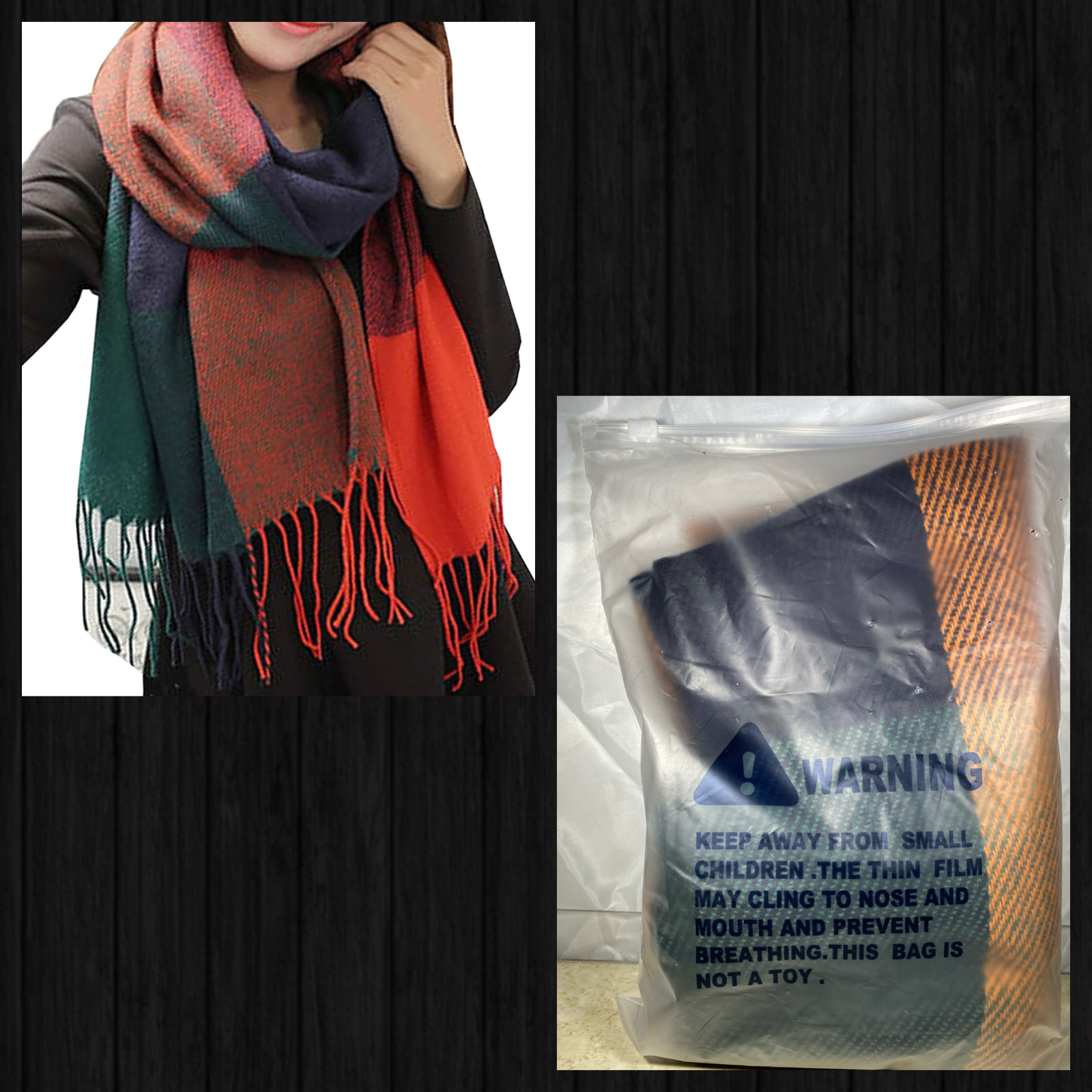 Unisex Small Checked Scarf Mens LadiesWinter Shawl Pashmina Stole Blanket Wrap