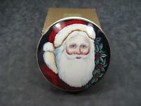 Mikasa Santa Clause 5 Round Trinket Box / Candy Dish Christmas Decoration