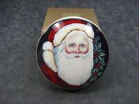 Mikasa Santa Clause 5 Round Trinket Box / Candy Dish Christmas Decoration