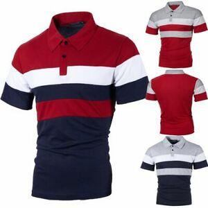 Photno Mens Polo Shirts Short Sleeve Tops Casual Slim Fit T Shirt Sport Tees