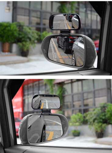 Adjustable Wide Angle Side Rear Mirrors Blind Spot Snap Way Rear View Mirror