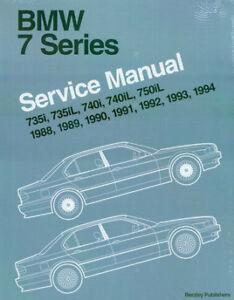 shop manual bmw service repair bentley e32 book 750il 740i 735i 7 rh ebay com 1980 BMW 735I BMW 335I