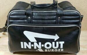 "IN N OUT BURGER DRAWSTRING BACKPACK Sport Bag With Insulated Pocket 17"" x 14"""