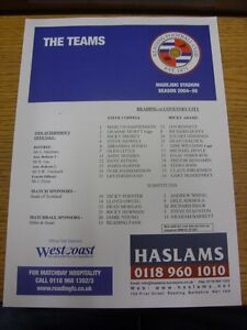 19-02-2005-Colour-Teamsheet-Reading-v-Coventry-City-Thanks-for-viewing-our-ite