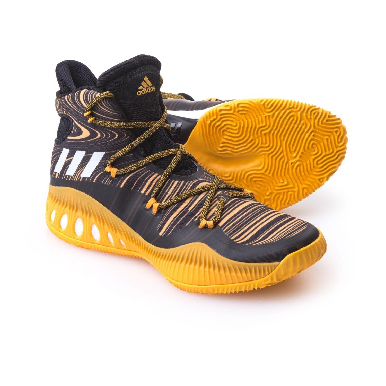 Men's Men's Men's Adidas Crazy Explosive NBA Basketball Sneakers Shoes Black Yellow Size 18 4ff26b
