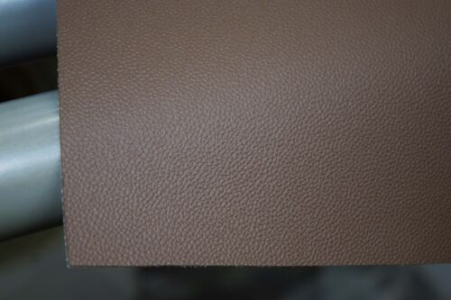 BROWN FINE GRAIN STRETCH VINYL MOTORBIKE SEAT COVER  1 MTR X .700 MTR VIN2