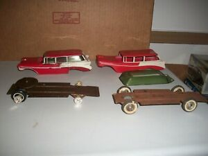 1/25  2-1956 PROMO CHEVY WAGONS